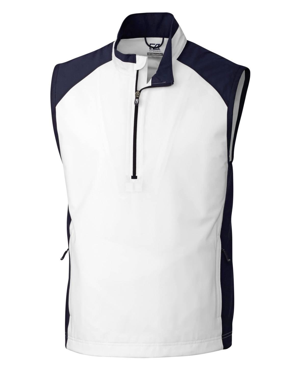 Cutter & Buck MCO09829 Mens CB WeatherTec Summit Half Zip Vest, White-XXXL by Cutter