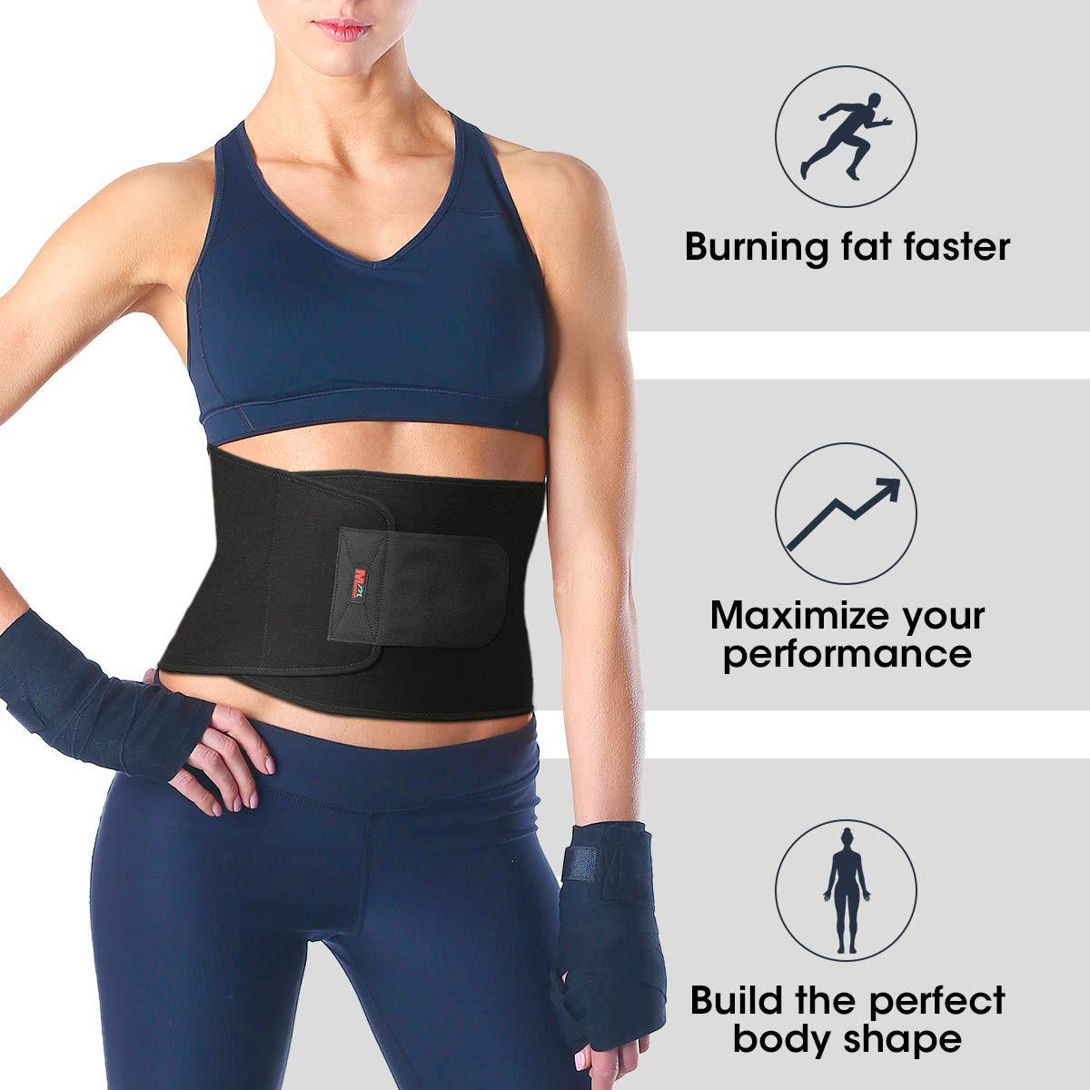 6be3b381dc06f Waist Trimmer Belt SGODDE Adjustable Weight Loss Waist Trainer