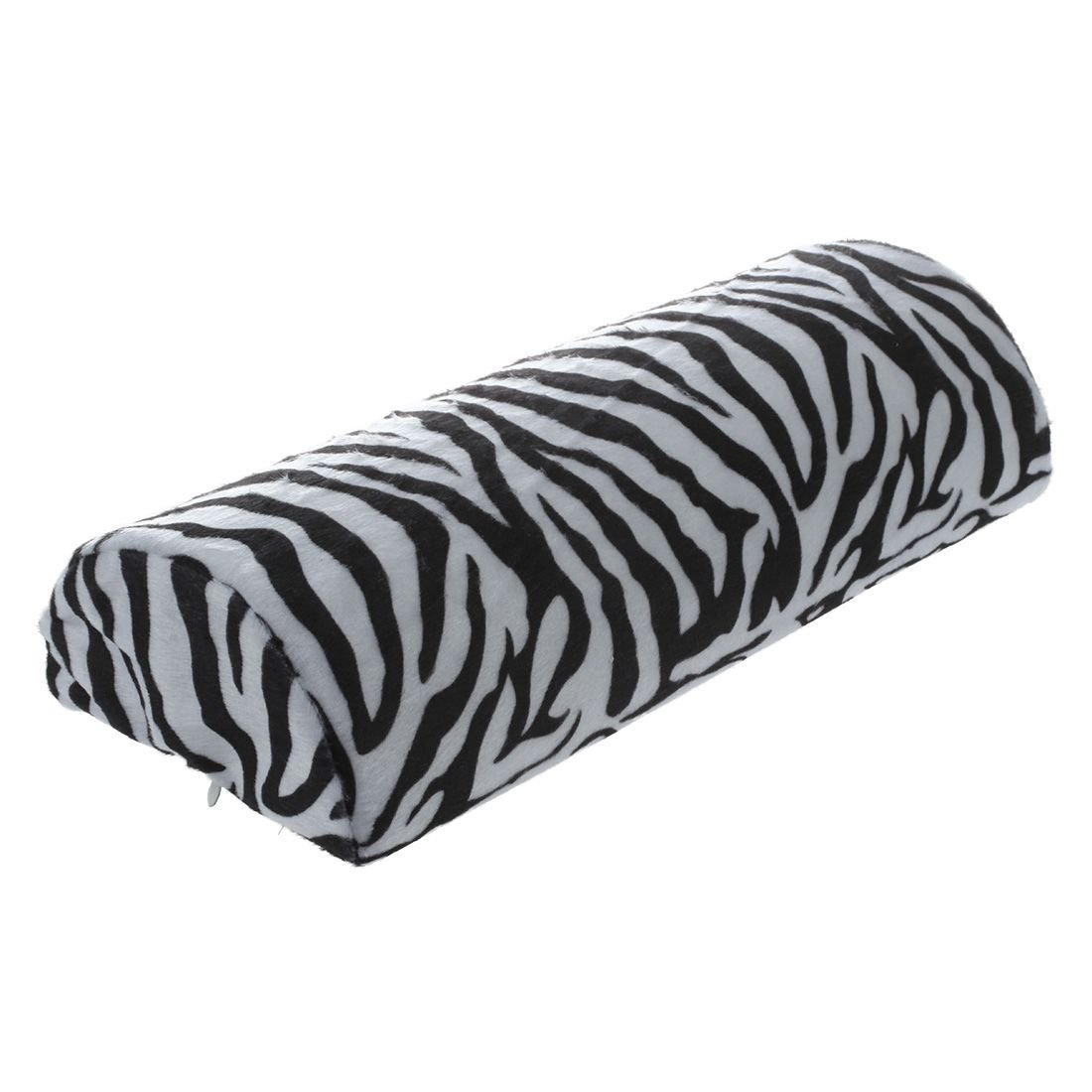 TOOGOO(R) Black With White Zebra Stripe Hand Rest Soft Cushion Pillow Nail Art Design Manicure Half Column SODIAL 045229