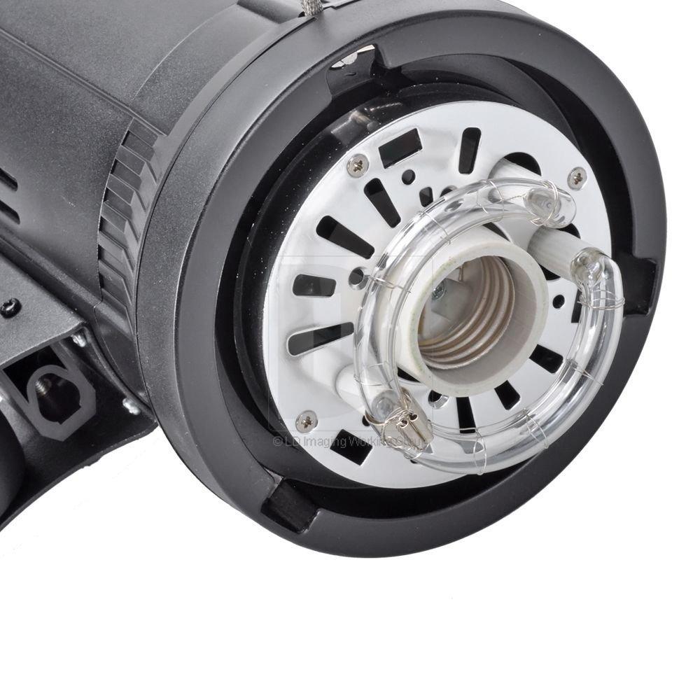 Godox DE-300 DE300 300W Compact Flash Strobe Studio Lighting Head Bowens Mount with EACHSHOT Cleaning Cloth by EACHSHOT