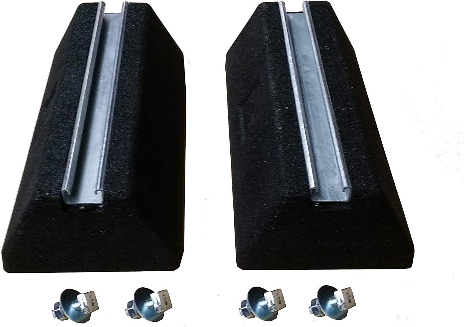 Lot de 2 consoles de sol de 400 mm pour climatisation et chauffage Pompe /à chaleur amortisseurs de vibrations
