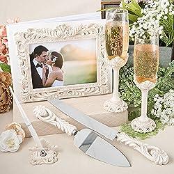 Fashioncraft Set Of Four Vintage Design Antique Wedding Accessory Set,Ivory
