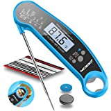 NiceGo Digital Instant Read Meat Thermometer with Probe Fast Waterproof Thermometer with Back light and Calibration. Digital Food Thermometer for Cooking, Kitchen, Outdoor Cooking, BBQ Grill. (blue)