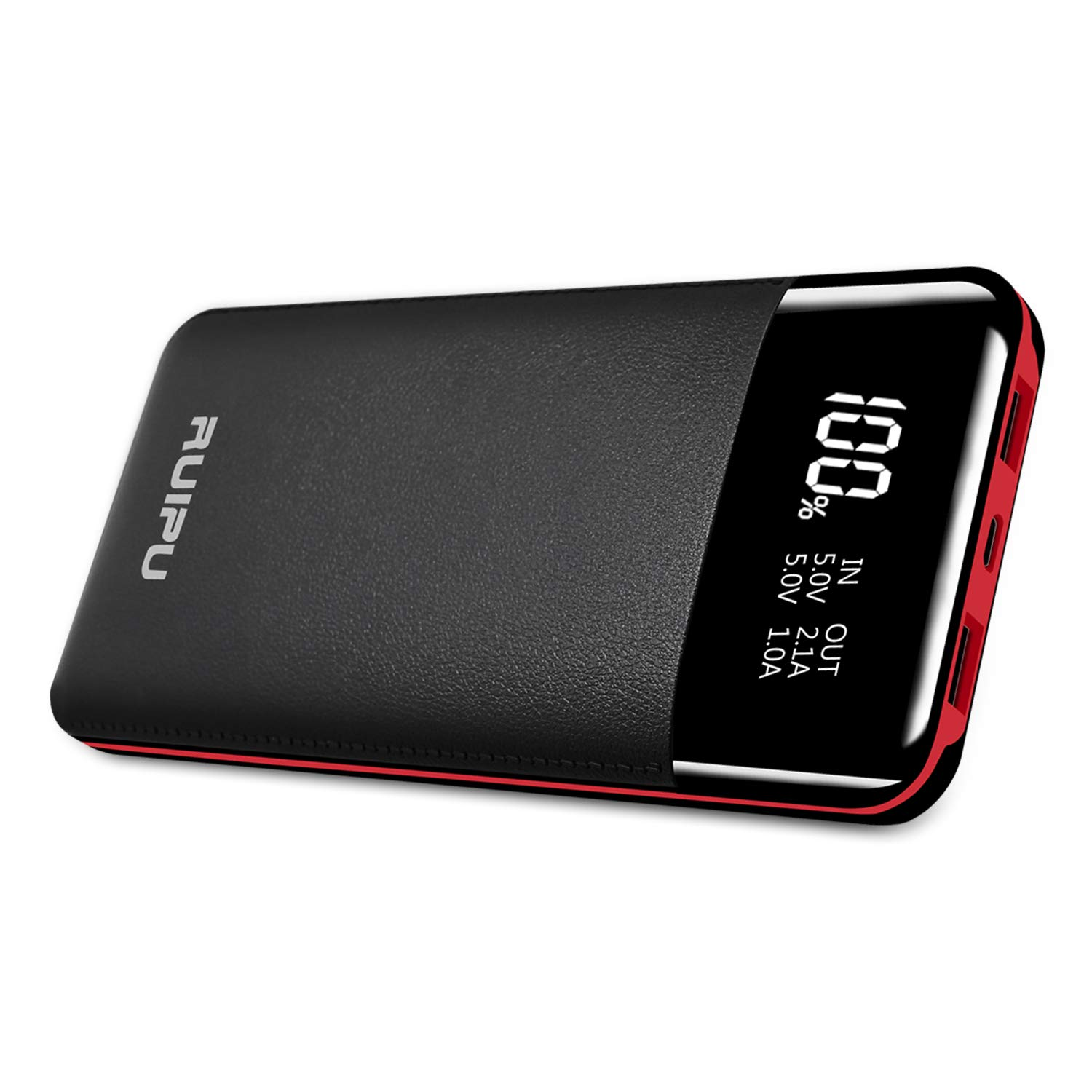 Portable Charger Power Bank 24000mAh High Capacity Backup Battery 2 USB Output Battery Pack Phone Charger with LCD Digital Display Compatible Android Phones,Tablets and Other USB-Power Devices by RUIPU