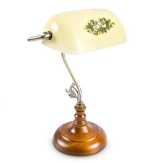 Bankerlampe grün nostalgisch Tischlampe Lampe Leselampe Bankerstil Leuchte E27
