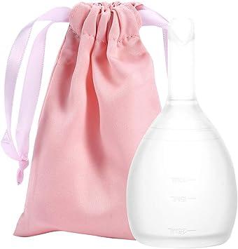 GLOGLOW Copa Menstrual de 2 Tamaños, Económica Femenina Alternativa Copa Menstrual Reutilizable para Servilletas Sanitarias de Tela(S)