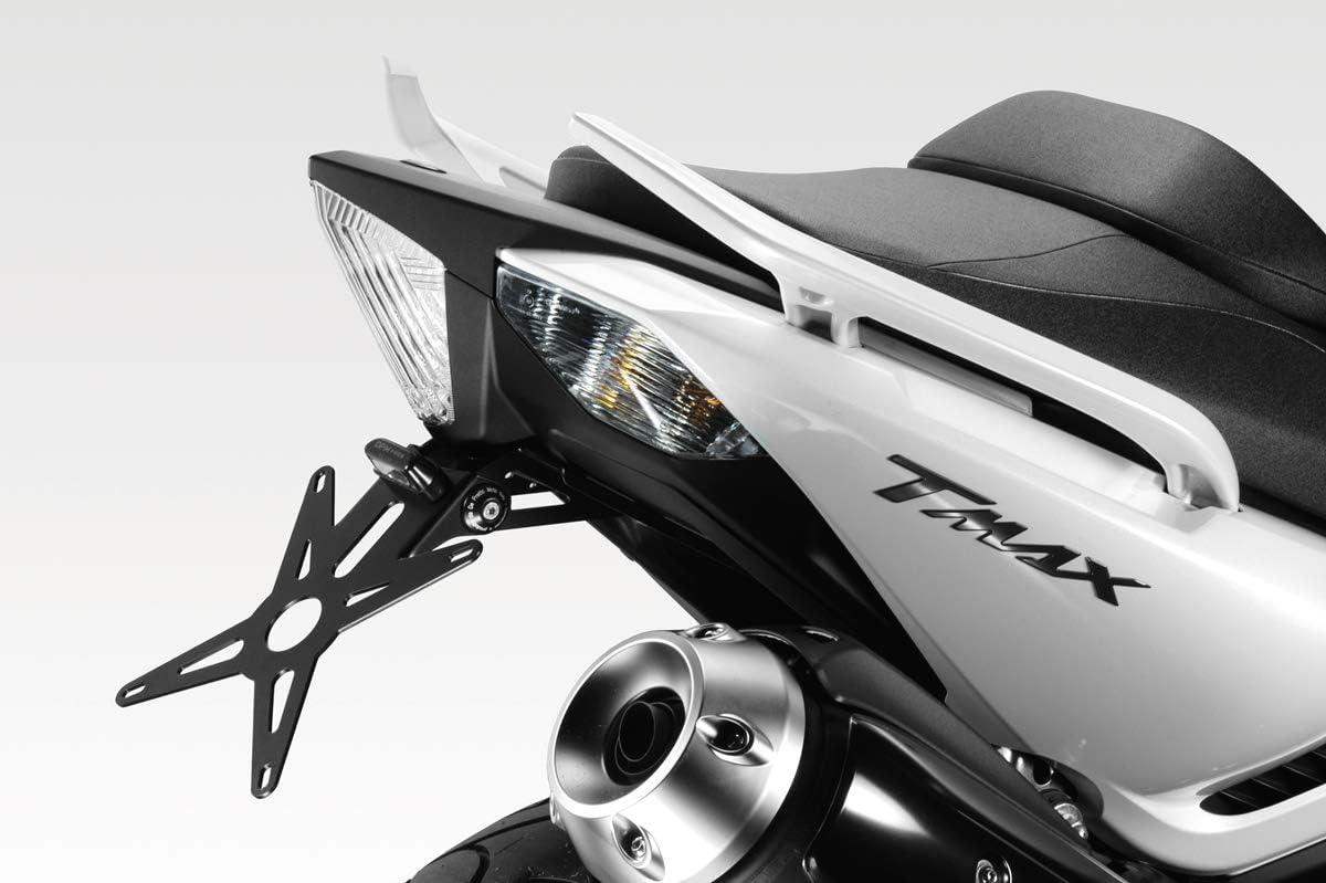 Accessoires De Pretto Moto - 100/% Made in Italy - Visserie et Lumi/ère LED Inclus Kit Support de Plaque dImmatriculation R/églable DPM Race TMAX 530 2012//16 R-0705
