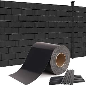 HENGMEI Valla protectora de privacidad de PVC con clips de fijación para jardín y balcón 35m: Amazon.es: Jardín