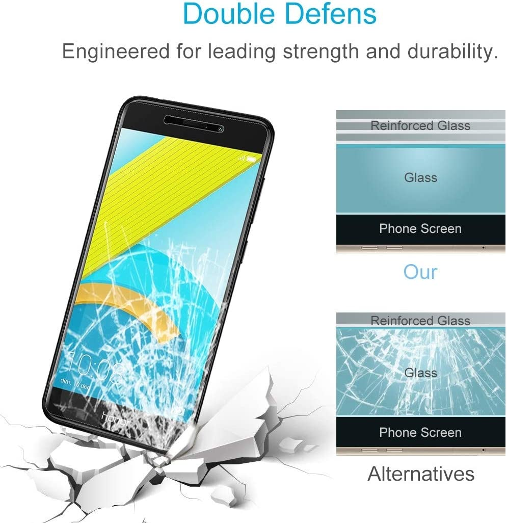 XHC Screen Protector Film 100 PCS for Huawei Honor 6C Pro 0.26mm 9H Surface Hardness 2.5D Explosion-Proof Tempered Glass Screen Film Tempered Glass Film