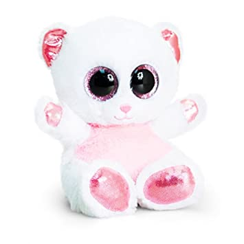 Keel Toys Animotsu Bear Soft Plush Toy (One Size) (Pink/White)