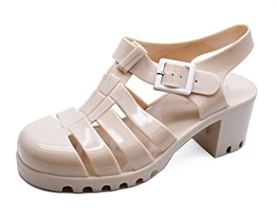 19830205a9437 ... Ladies Nude Jelly Gladiator Retro Sandals Festival Beach Holiday Shoes  Sizes 3-8 new concept ...