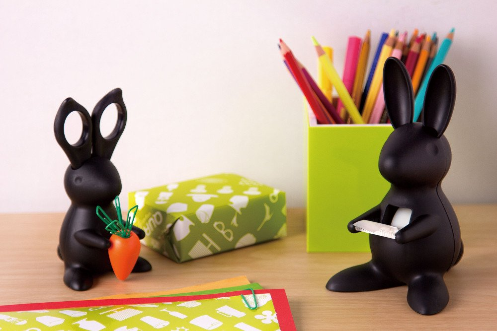 Bunny Desk Organiser - Scissors and Paper Clips Holder by Cub (Image #3)