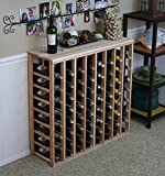 Cheap VinoGrotto 64 Bottle Table Wine Rack (Redwood) by VinoGrotto – Exclusive 12 inch deep design conceals entire wine bottles. Hand-sanded to perfection!, Redwood