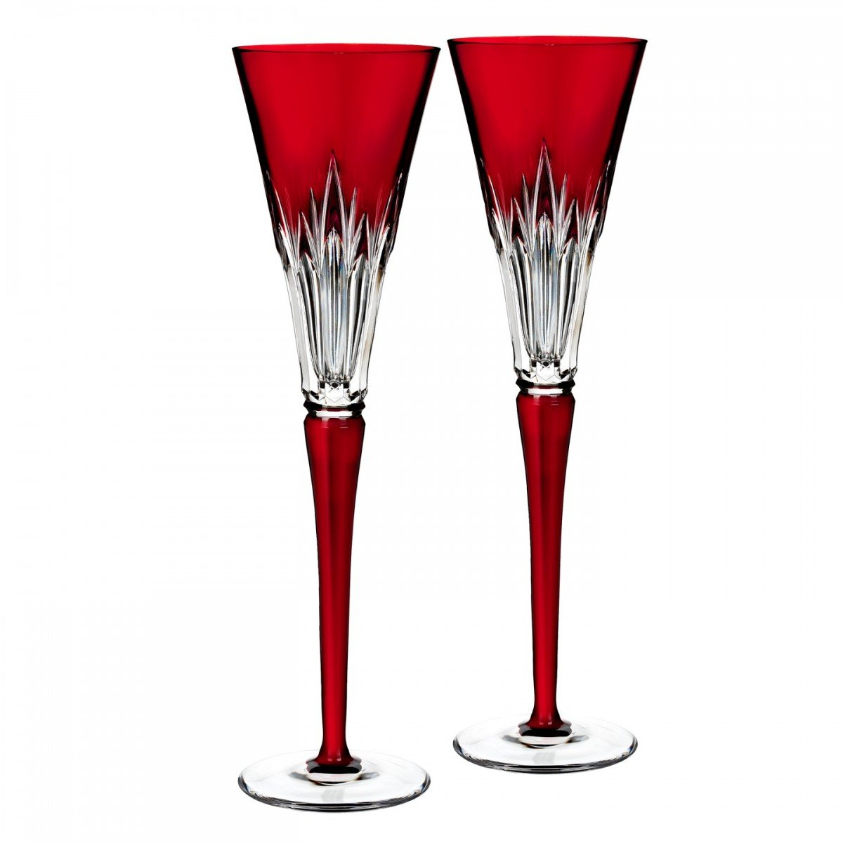 Waterford Times Square Wonder Ruby Flute Pair by Waterford
