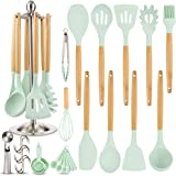 Silicone Kitchen Cooking Utensil Set, EAGMAK 16PCS Kitchen Utensils Spatula Set with Stainless Steel Stand for Nonstick…