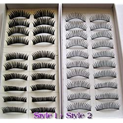 CHOP MALL ® 20 Pairs Regular Long and Thick Eyelashes Style 1 and 2