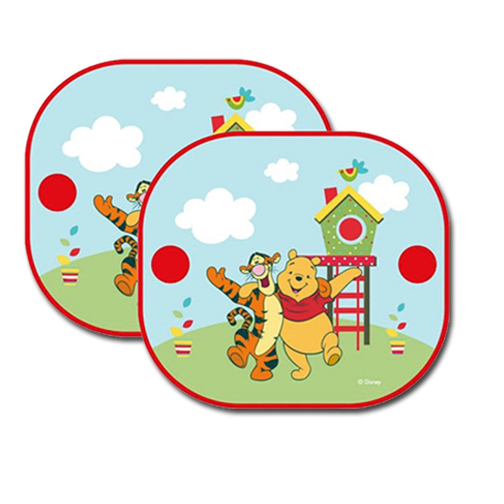 2 WINNIE THE POOH KIDS CAR WINDOW SUNSHADE SUN SHADE FOLDING BLIND SIDE PANELS CHILDRENS VISORS Guaranteed4Less