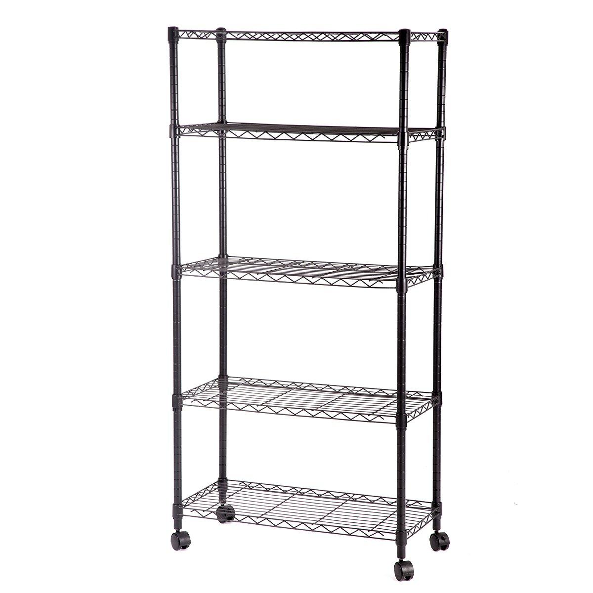 Amazon.com: 5 Shelf Steel Wire Shelving 30 by 14 by 60-Inch Storage ...