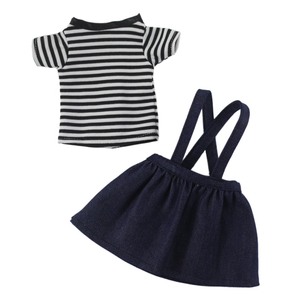 Fenteer 14.5inch Doll Clothes Skirt and T-Shirt for Wellie Wishers Dolls Doll Accessories Set non-brand