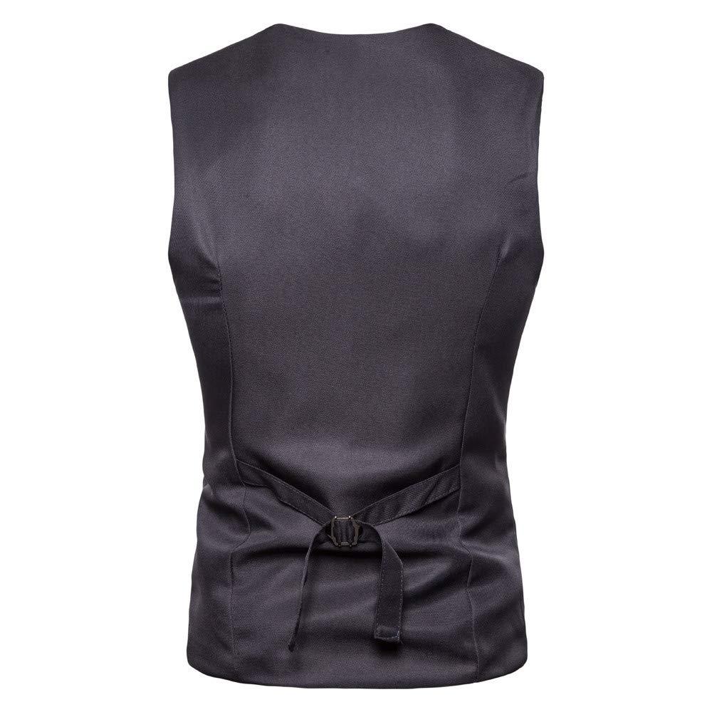 Yvelands Chaquetas y Abrigos, Camisas para Hombre liquidación Chaleco Informal Bolsillo Superior Beston Droit Chaleco Grande y Alto Outwear: Amazon.es: Ropa ...