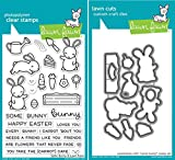 Lawn Fawn Some Bunny Clear Stamp and Coordinating Die Set - 2 Item Bundle (LF1587, LF1588)