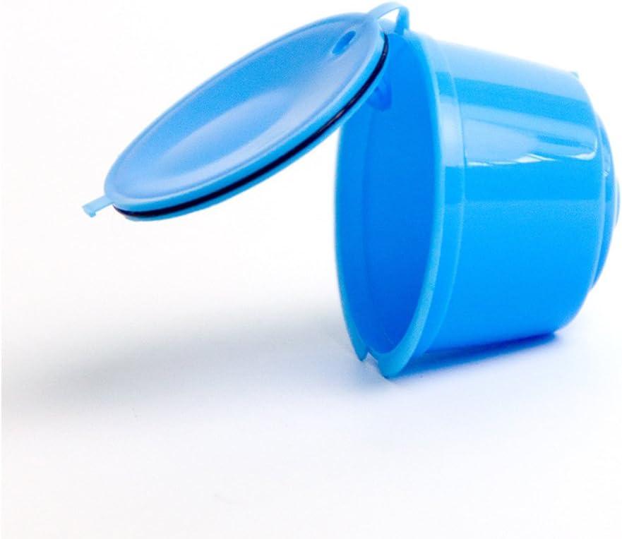 Adaptador de cápsulas rellenable para máquinas de café Nestlé Dolce Gusto (soporte de cápsulas, buena alternativa, reutilizable) Tamaño libre azul: Amazon.es: Hogar