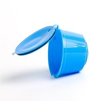 Adaptador de cápsulas rellenable para máquinas de café Nestlé Dolce Gusto (soporte de cápsulas, buena alternativa, reutilizable) Tamaño libre azul: ...