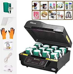 Techtongda 3D Muti-fuction Vacuum Sublimation Heat Press Machine Red or Black Color Three-Dimensional Printing CE Certification