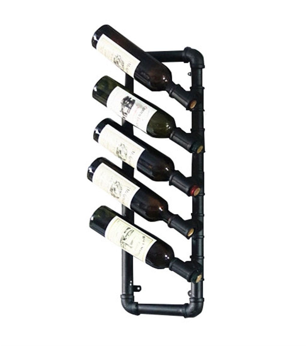 SYF Rack Hanging Wine Display Stand   Retro Water Wine Rack   Ornaments Wall Hanging Goblet Red Wine Cup Upside Down Wine Rack 68X24CM A+