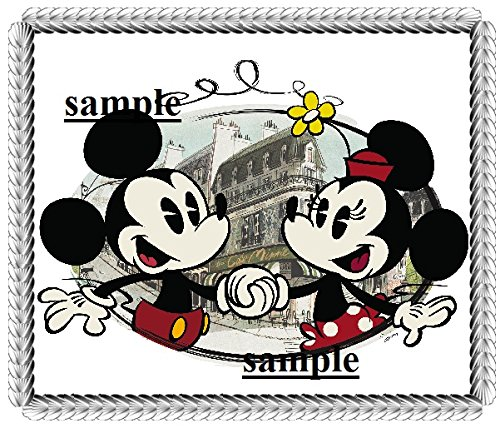 Vintage Mickey & Minnie Mouse Wedding Edible Cake topper Frosting Sheet, Easy to Apply]()