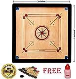 M ART PRO Wooden Carrom Board 26 INCH (MEDIAM) Sizes in PAKKI PLY.