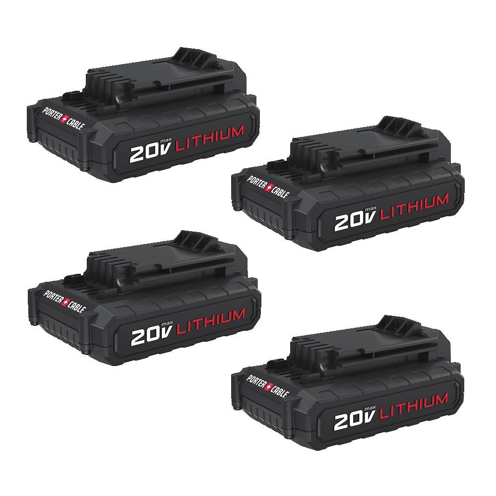 PORTER-CABLE PCC681L4 20V 1.3 AH Lithium Battery (4 Pack) by PORTER-CABLE