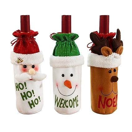 Funda para botella de vino de Navidad, 3 unidades, bolsas de ...