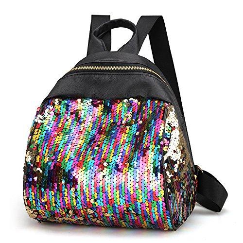 OneMoreT Women Small Bag PU Leather Mermaid Sequins Backpack Fashion Girls Shoulderbag Knapsack colors