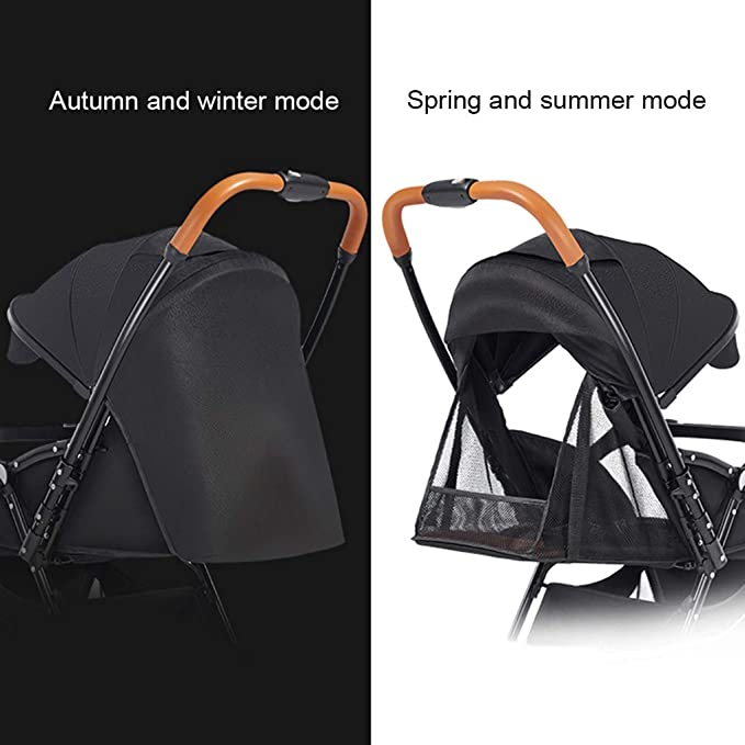 Ultra-lightweight Compact Pushchair Foldable Buggy Reversible Baby Stroller Non-slip PU Handle