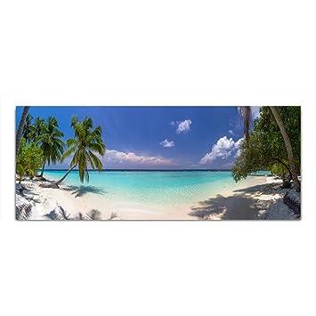 Dekoglas Glasbild Meer Strand Palmen Acrylglas Bild Kuche