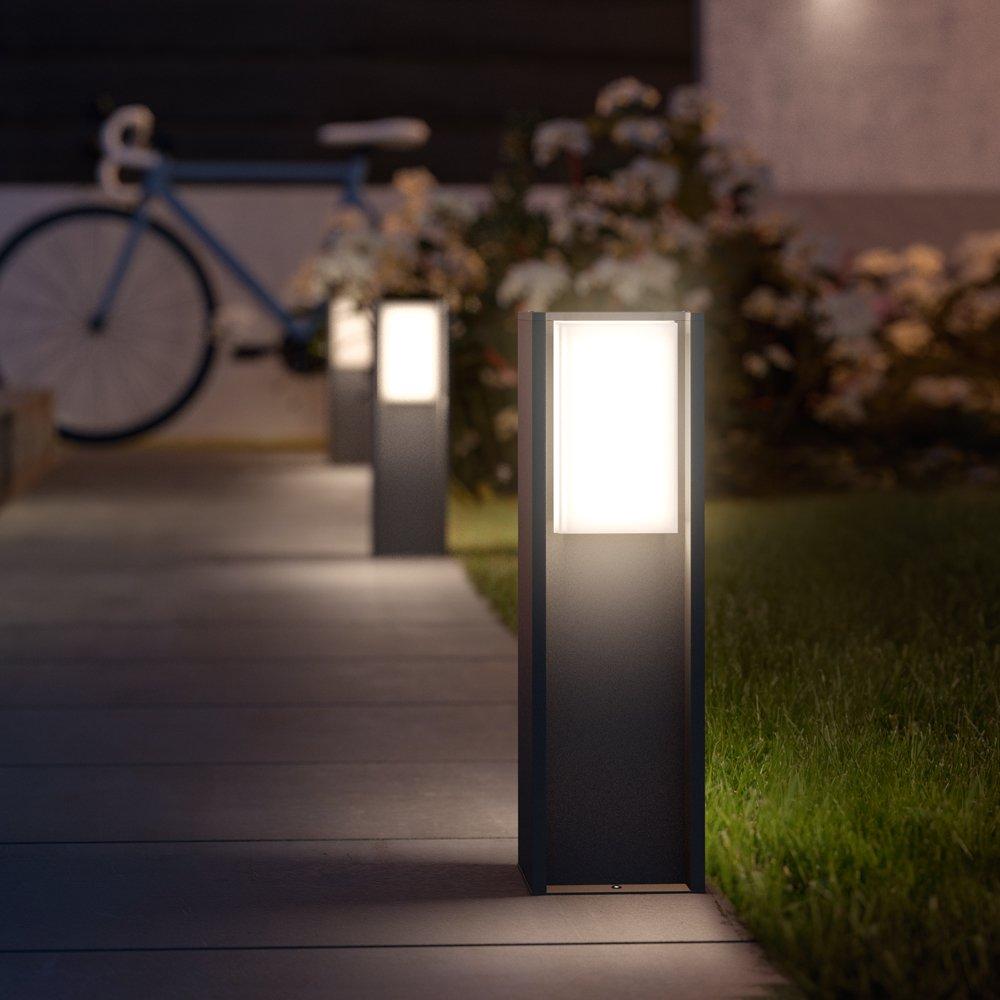 Philips Hue LED Sockelleuchte Turaco Anthrazit inkl. Hue White | Hue-Wegeleuchte, Gartenleuchte [Energieklasse A]