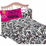 Disney Monster High Full Size Sheets Girls Scary Cute Sheet Set Double Bed