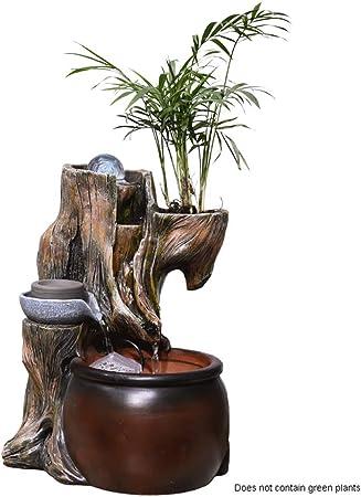 Fuentes de interior Fuente de mesa cubierta Fuente Cascada naturalezas Jardín 12.6