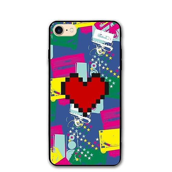 Amazon.com  Celclin Pixel Heart IPhone 8 Case For Mens   Womens ... 5e40a877a