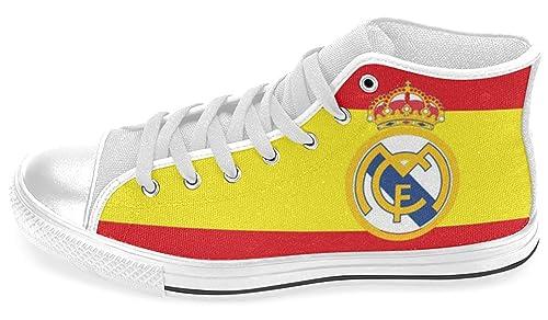 Hombre High Top Zapatillas para los Fans de Real Madrid: Amazon.es: Zapatos y complementos