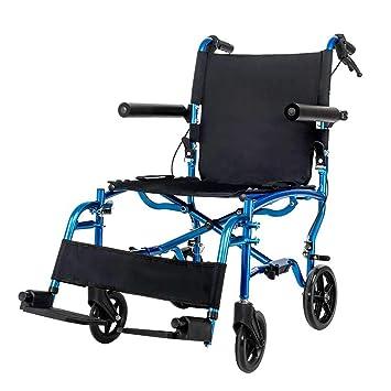 Sillas de ruedas Silla Plegable Trolley Azul Viaje Portátil ...