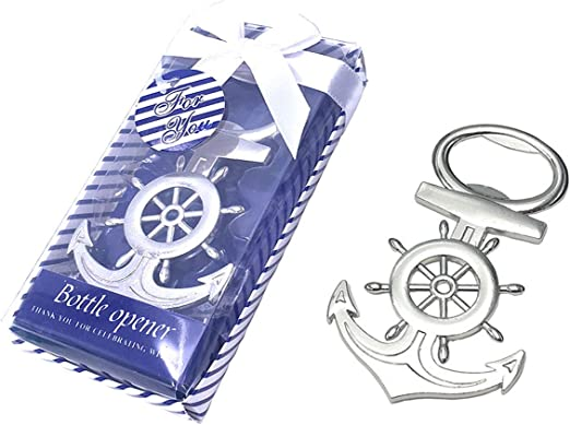 12pcs Anchor Yuokwer 12pcs Nautical Anchor Bottle Opener Wedding Party Favors Giveaways Gift Favor for Beach Wedding Bridal Shower Baby Shower Birthday Party Supplies