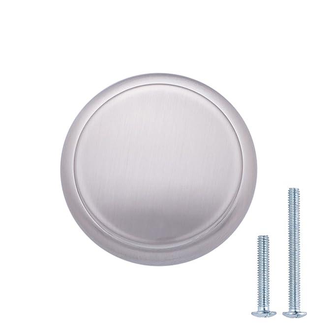 Durchmesser: 2,95 cm modern Schubladenknopf mit runder Platte oben M/öbelgriff Basics 25er-Pack Matt-Schwarz