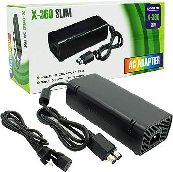 Amazon.com: Fuente de alimentación para Xbox 360, ZESHUO Ac ...