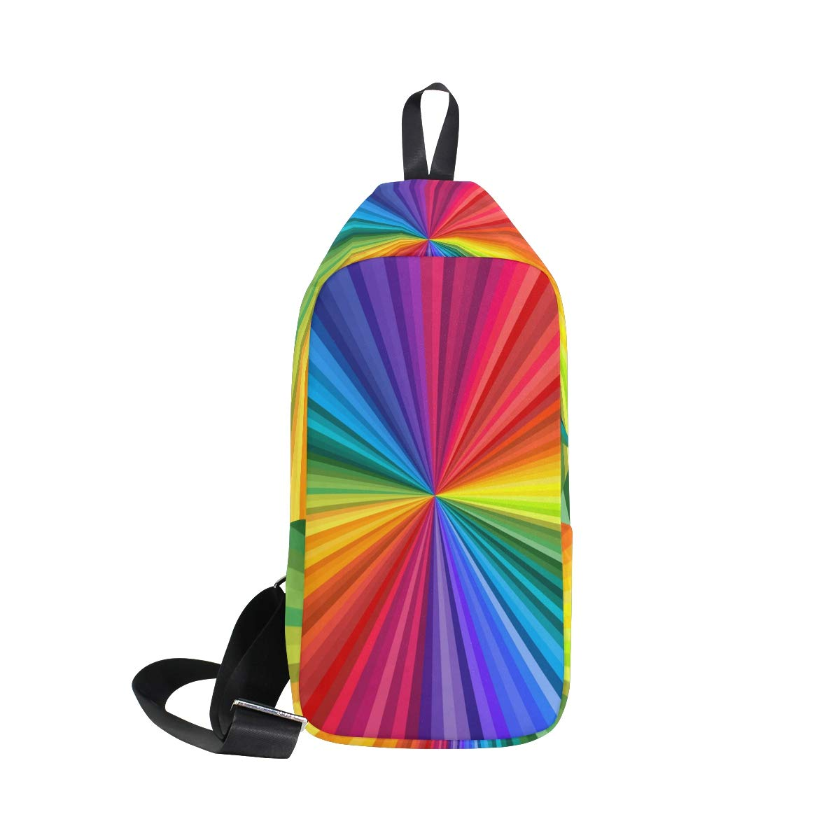 TFONE Tie Dye Pattern Crossbody Bag Lightweight Chest Shoulder Messenger Pack Backpack Sling Bag