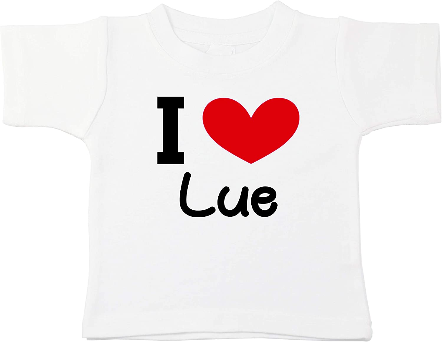 Kinacle I Love LUE Personalized Baby//Toddler T-Shirt