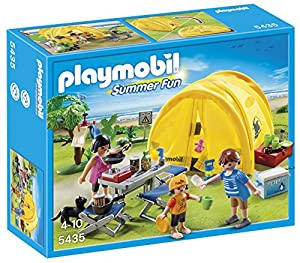 Playmobil 5435 Summer Fun Family with Camping Tent ...