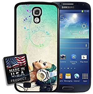 Music Girl Woman Musical Notes Singing Songwriting Inspiration Galaxy S4 Hard Case