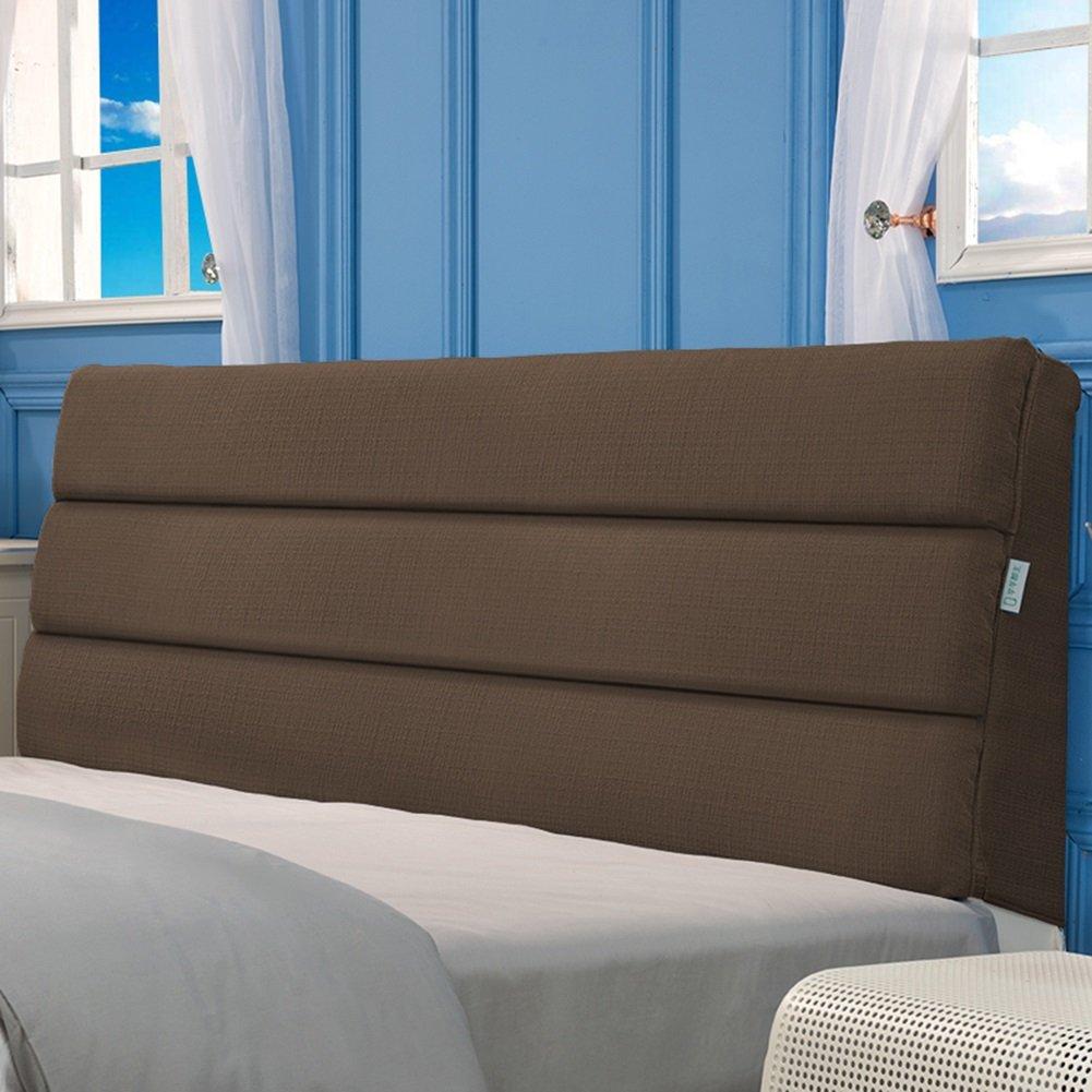 LIQICAI クッション ベッドの背もたれ高品質のコットンリネン 取り外し可能な洗浄が可能 酸逆流を助ける シングル、ダブル、キングサイズ 3色、5サイズオプション (色 : ブラウン ぶらうん, サイズ さいず : 150*5*50cm) B07DJCBK3M 150*5*50cm|ブラウン ぶらうん ブラウン ぶらうん 150*5*50cm